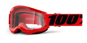 STRATA 2 100% - USA , dětské brýle červené - čiré plexi