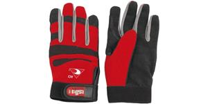 pracovné rukavice červenočerné ACI veľkosť L