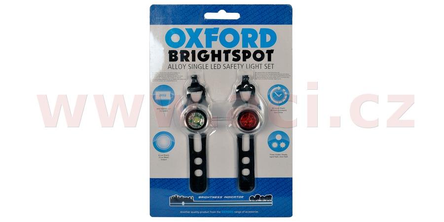 sada světel na kolo BRIGHT SPOT, OXFORD (LED, světelný tok 5/2 lm)