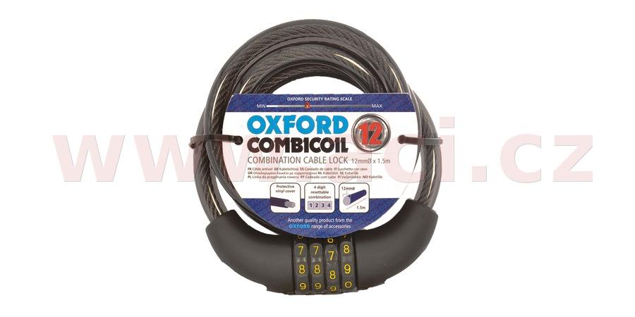 zámek COMBI COIL12, OXFORD (délka 1,5 m, průměr lanka 12 mm)