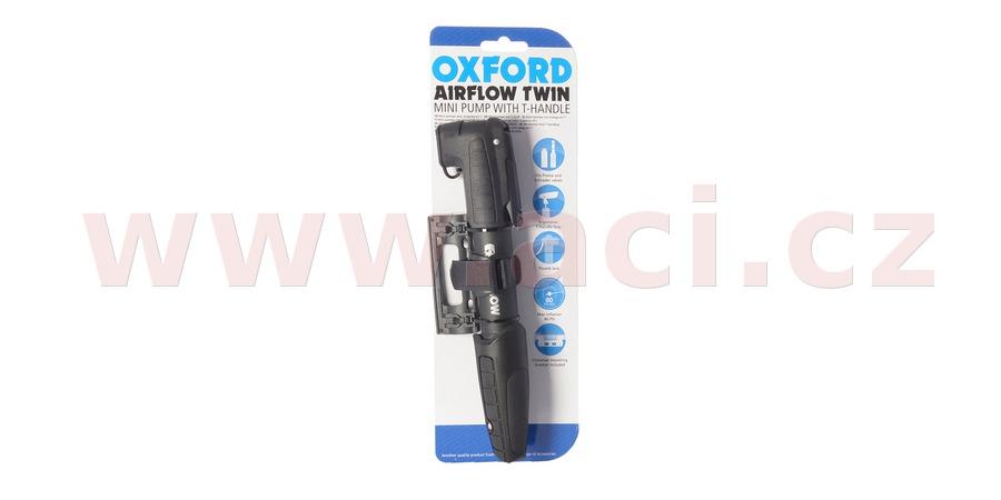 pumpička AIRFLOW TWIN MINI PUMP plastová s dvojitou hlavicí, OXFORD