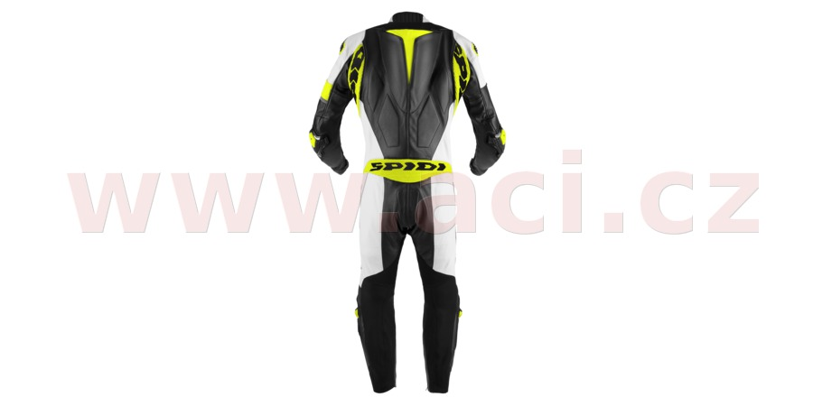 jednodielna kombinéza RACE WARRIOR PERFORATED pre, SPIDI (černá/bílá/žlutá fluo, veľ. 52)