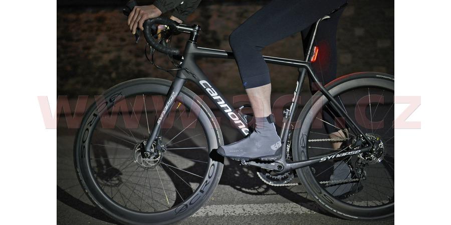 voděodolné návleky přes cyklo boty a tretry BRIGHT SHOES 2.0, OXFORD (černé reflexní, vel. L)
