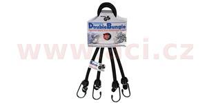 gumicuk Double Bungee délka/šířka popruhu 600/9mm OXFORD UK hák/hák dvojpopruh spojený očkem