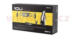 Bluetooth handsfree headset 10U pre prilby Shoei J-Cruise dosah 1 6 km SENA