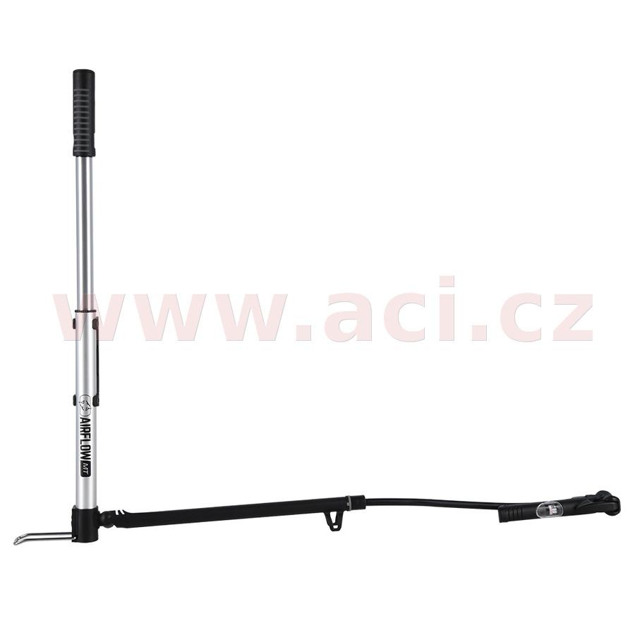 pumpička AIRFLOW MT MINI TRACK slitinová, rozkládací s ukazatelem tlaku, OXFORD