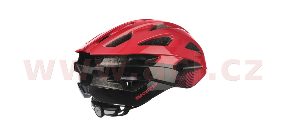 cyklo přilba RAVEN ROAD, OXFORD (červená/černá, vel. L)