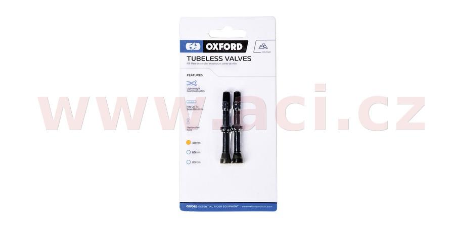 ventilek pro bezdušové aplikace, OXFORD (černý, vč. čepičky, slitina hliníku, délka 48 mm)