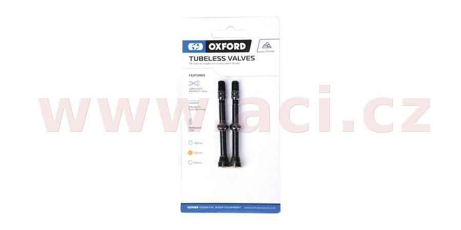 ventilek pro bezdušové aplikace, OXFORD (černý, vč. čepičky, slitina hliníku, délka 60 mm)