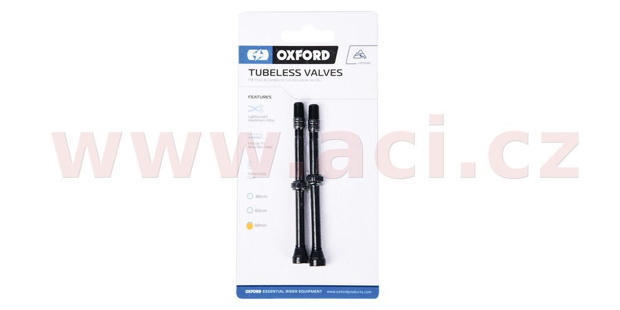ventilek pro bezdušové aplikace, OXFORD (černý, vč. čepičky, slitina hliníku, délka 80 mm)