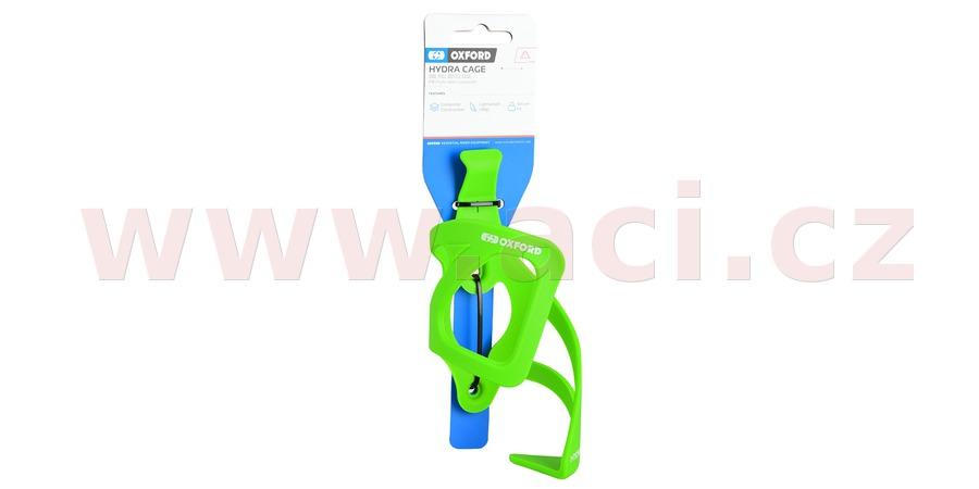 košík HYDRA SIDE PULL s možností vyndavání bidonu/láhve bokem, OXFORD (zelený, plast)