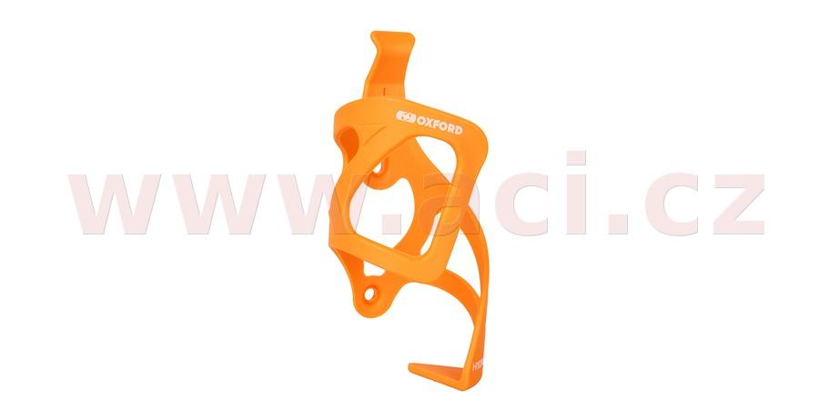 košík HYDRA SIDE PULL s možností vyndavání bidonu/láhve bokem, OXFORD (oranžový, plast)