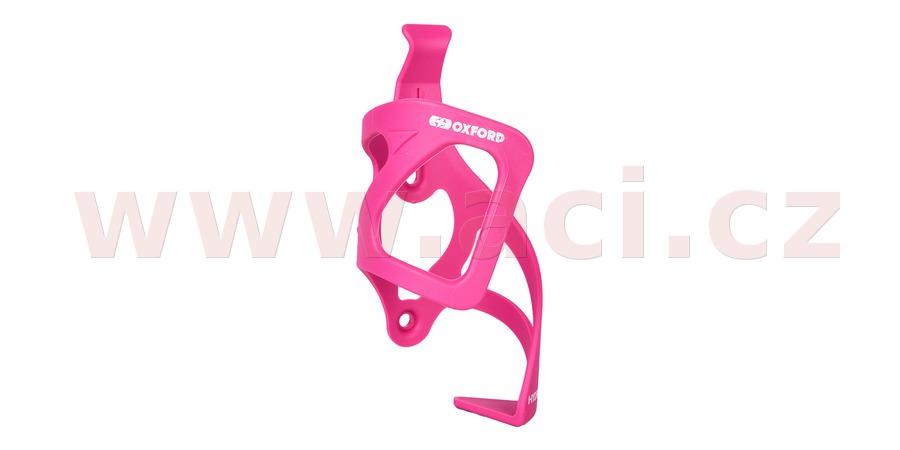 košík HYDRA SIDE PULL s možností vyndavání bidonu/láhve bokem, OXFORD (růžový, plast)