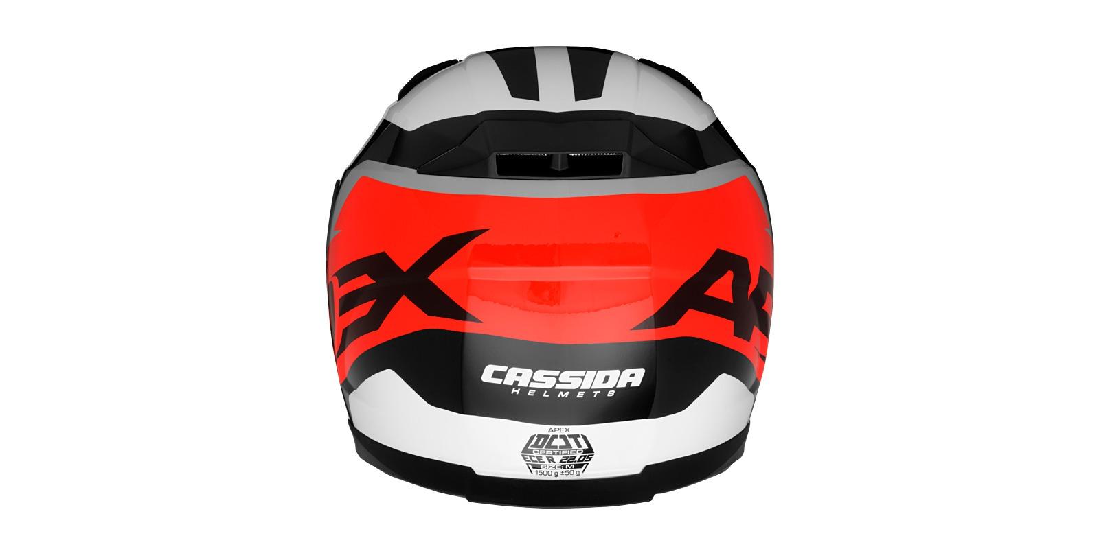 přilba Apex Contrast, CASSIDA - ČR (červená fluo/černá/bílá/šedá, vel. XL)