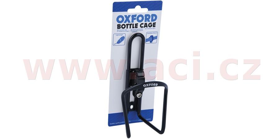 košík BOTTLE CAGE s představcem pro umístění na řídítka, OXFORD (černý, slitina hliníku)