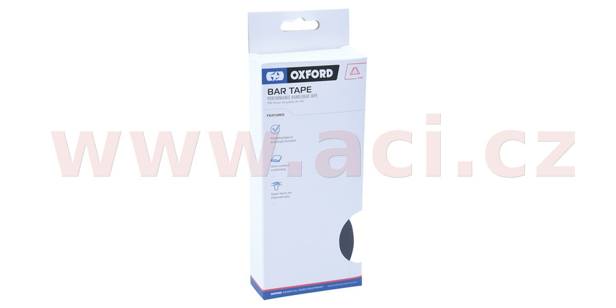 omotávka řídítek PERFORMANCE vč. špuntů a koncové pásky, OXFORD (černá, délka jedné role 2m, šířka 30 mm, tl. 2 mm)