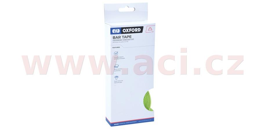 omotávka řídítek PERFORMANCE vč. špuntů a koncové pásky, OXFORD (žlutá fluo, délka jedné role 2m, šířka 30 mm, tl. 2 mm)