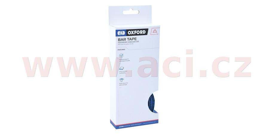 omotávka řídítek PERFORMANCE vč. špuntů a koncové pásky, OXFORD (modrá, délka jedné role 2m, šířka 30 mm, tl. 2 mm)