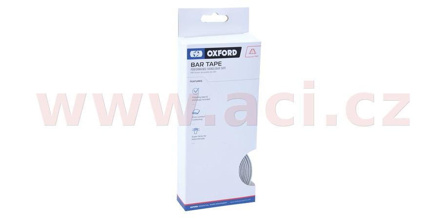 omotávka řídítek PERFORMANCE vč. špuntů a koncové pásky, OXFORD (bílá, délka jedné role 2m, šířka 30 mm, tl. 2 mm)
