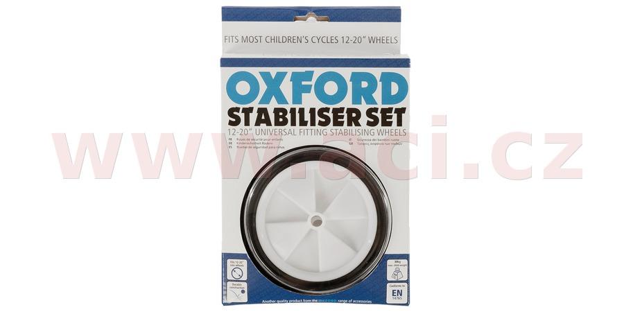 """dětská přídavná stabilizační kolečka, OXFORD (univerzální aplikace pro kola 12"""" až 20"""", sada na obě strany)"""