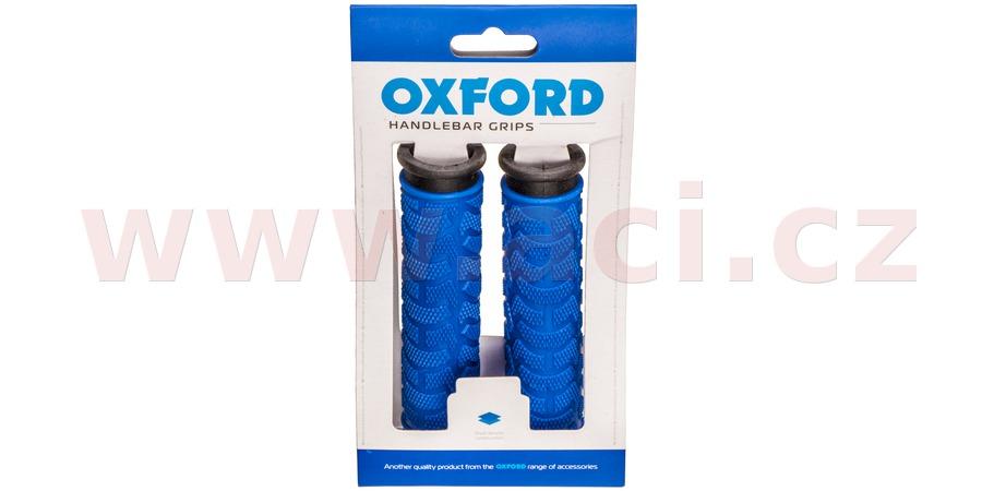 gripy MTB, OXFORD (modré/černé, dvoukomponentní, délka 127 mm, 1 pár)