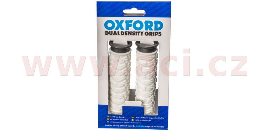 gripy MTB, OXFORD (bílé/černé, dvoukomponentní, délka 127 mm, 1 pár)