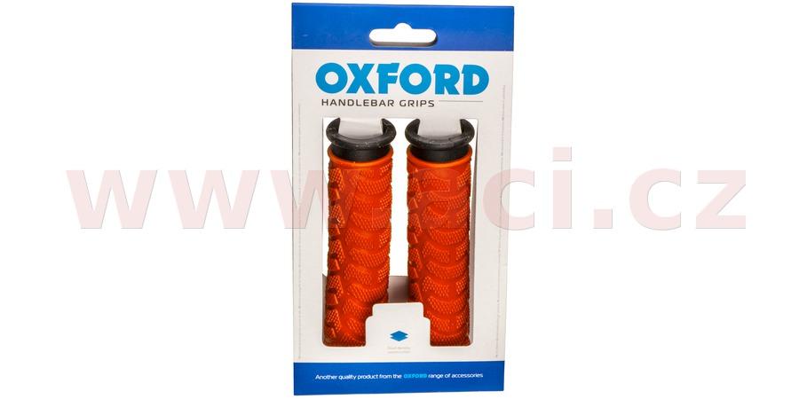 gripy MTB, OXFORD (červené/černé, dvoukomponentní, délka 127 mm, 1 pár)