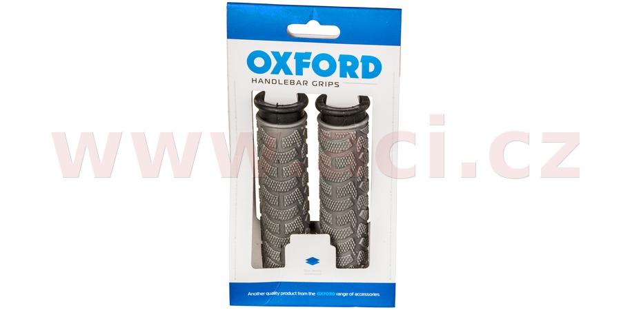gripy MTB, OXFORD (šedé/černé, dvoukomponentní, délka 127 mm, 1 pár)
