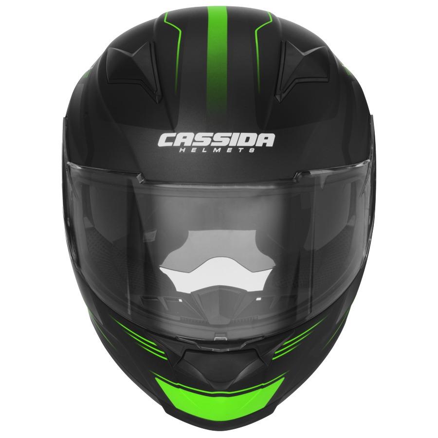 přilba Apex Fusion, CASSIDA - ČR (černá matná/zelená/bílá, vel. L)