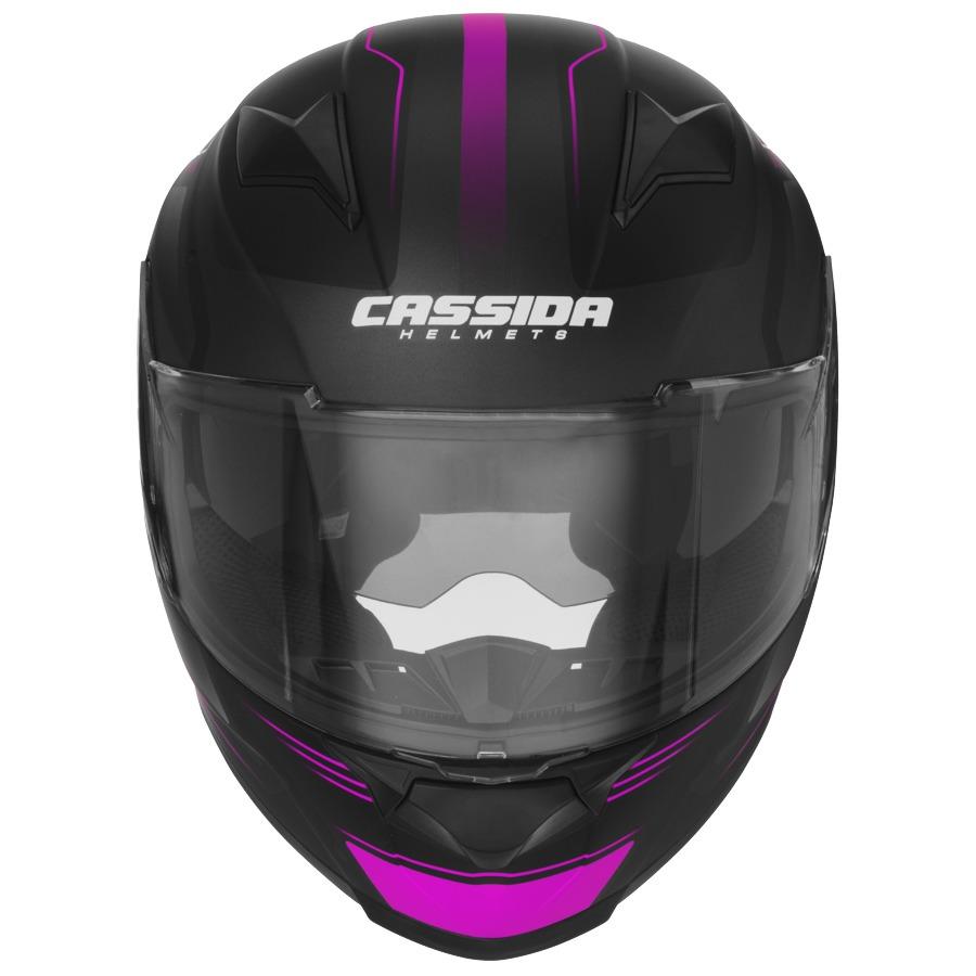 přilba Apex Fusion, CASSIDA - ČR (černá matná/růžová/bílá, vel. S)