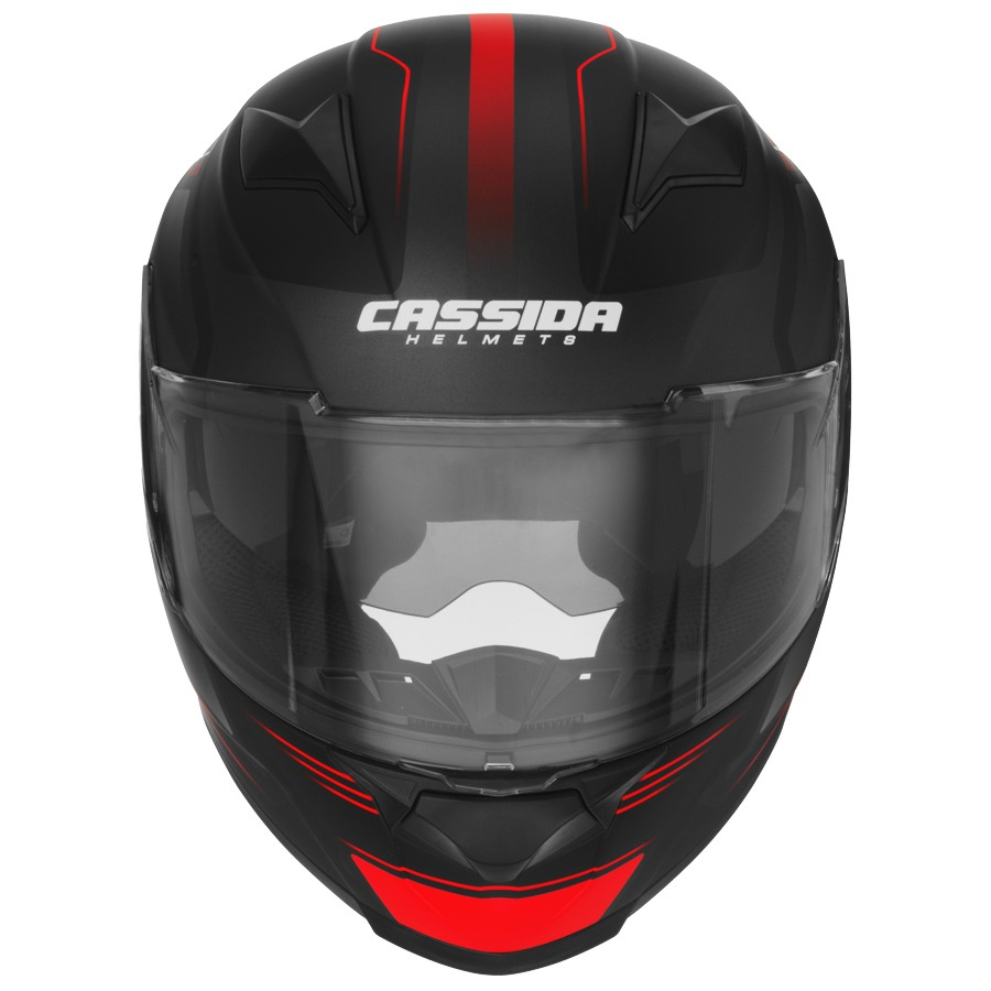 přilba Apex Fusion, CASSIDA - ČR (černá matná/červená fluo/bílá, vel. 2XL)