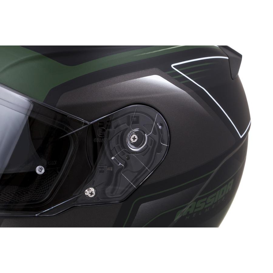 přilba Apex Fusion, CASSIDA (černá matná/zelená army/bílá, vel. S)