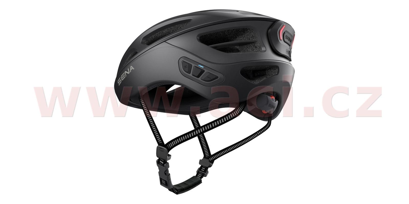 cyklo přilba s headsetem R1 EVO, SENA (matná černá, vel. M)