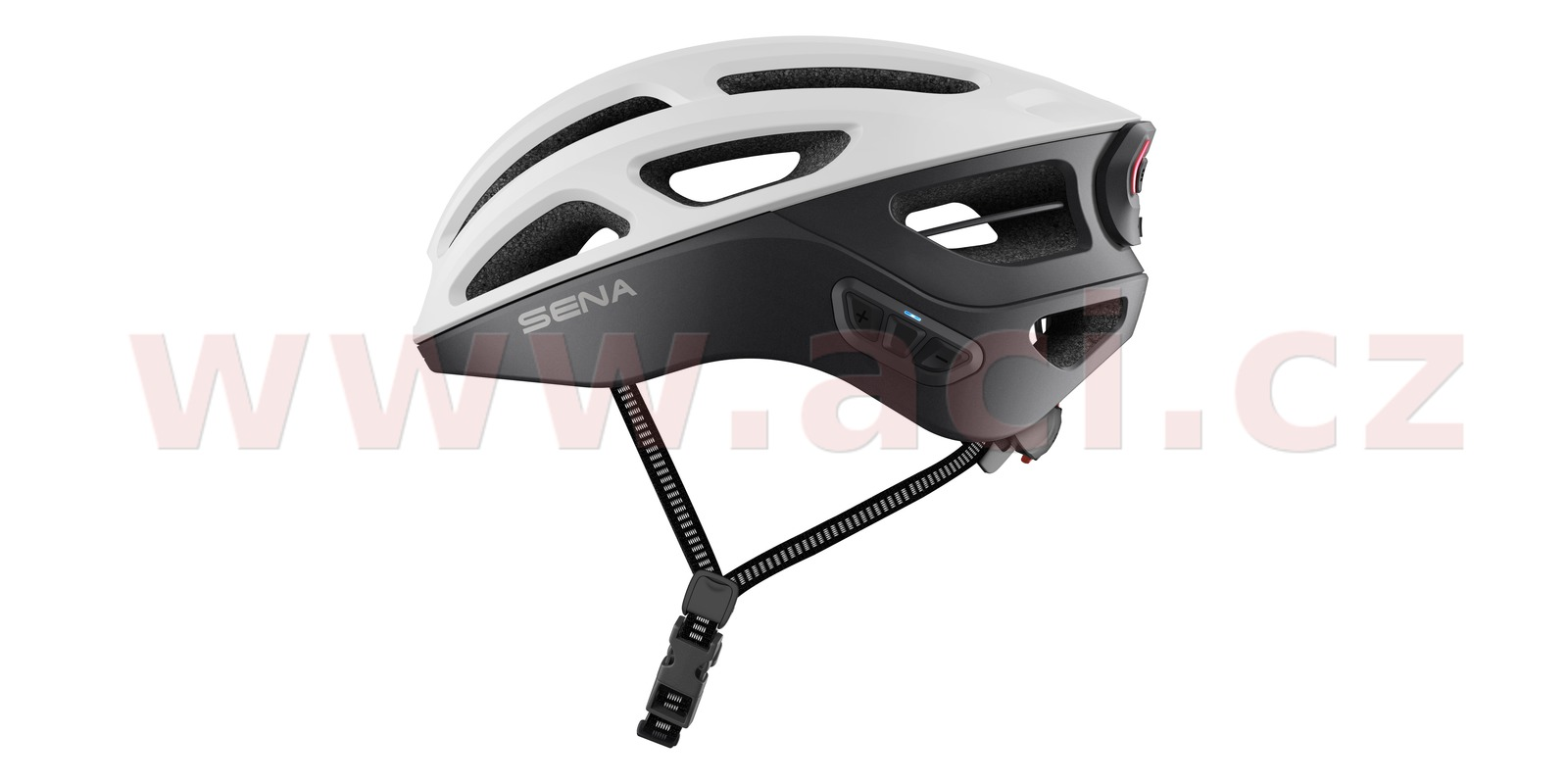 cyklo přilba s headsetem R1 EVO, SENA (matná bílá, vel. S)