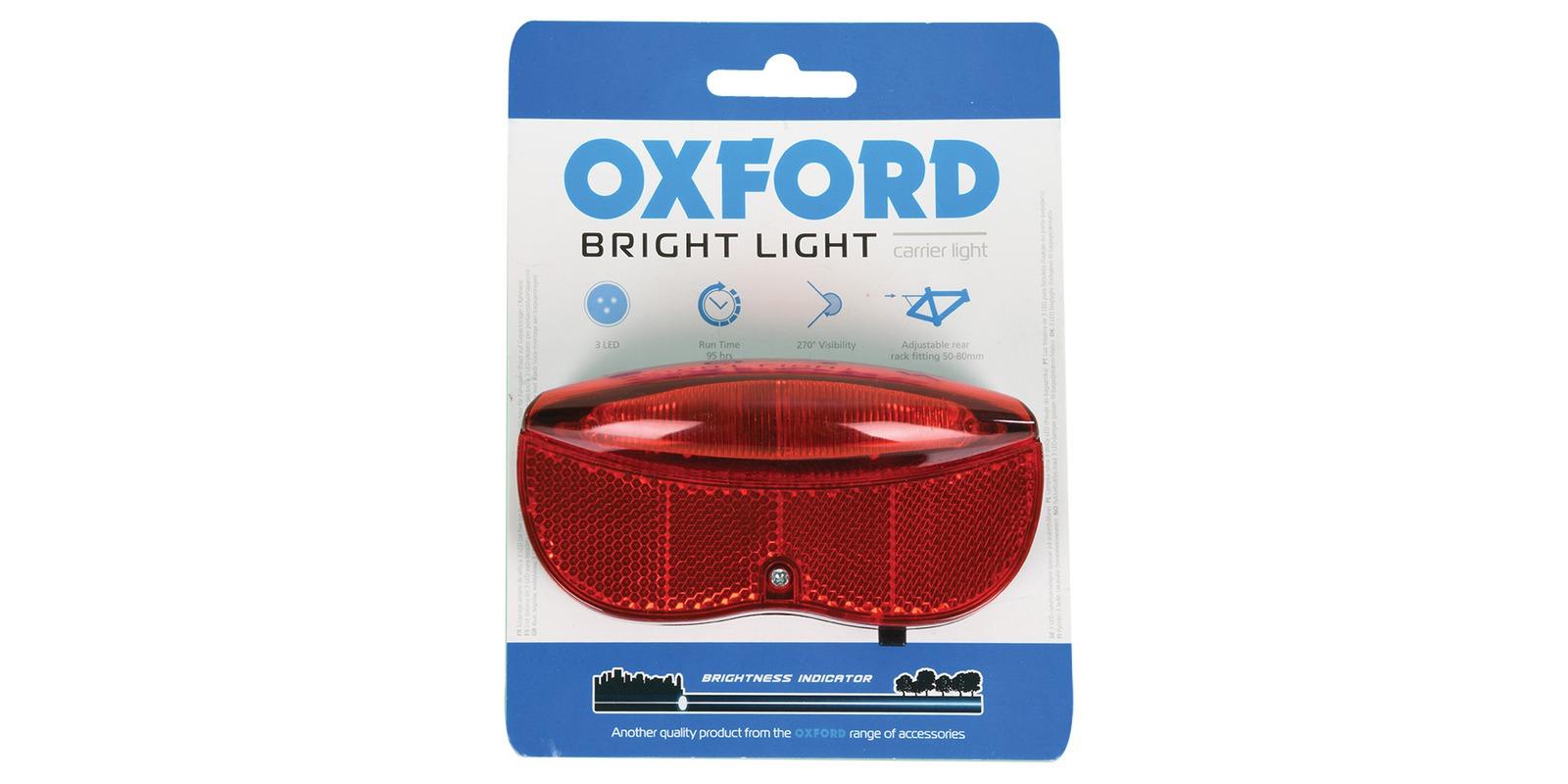 světlo na kolo zadní ULTRATORCH s umístěním na nosič, OXFORD (LED)