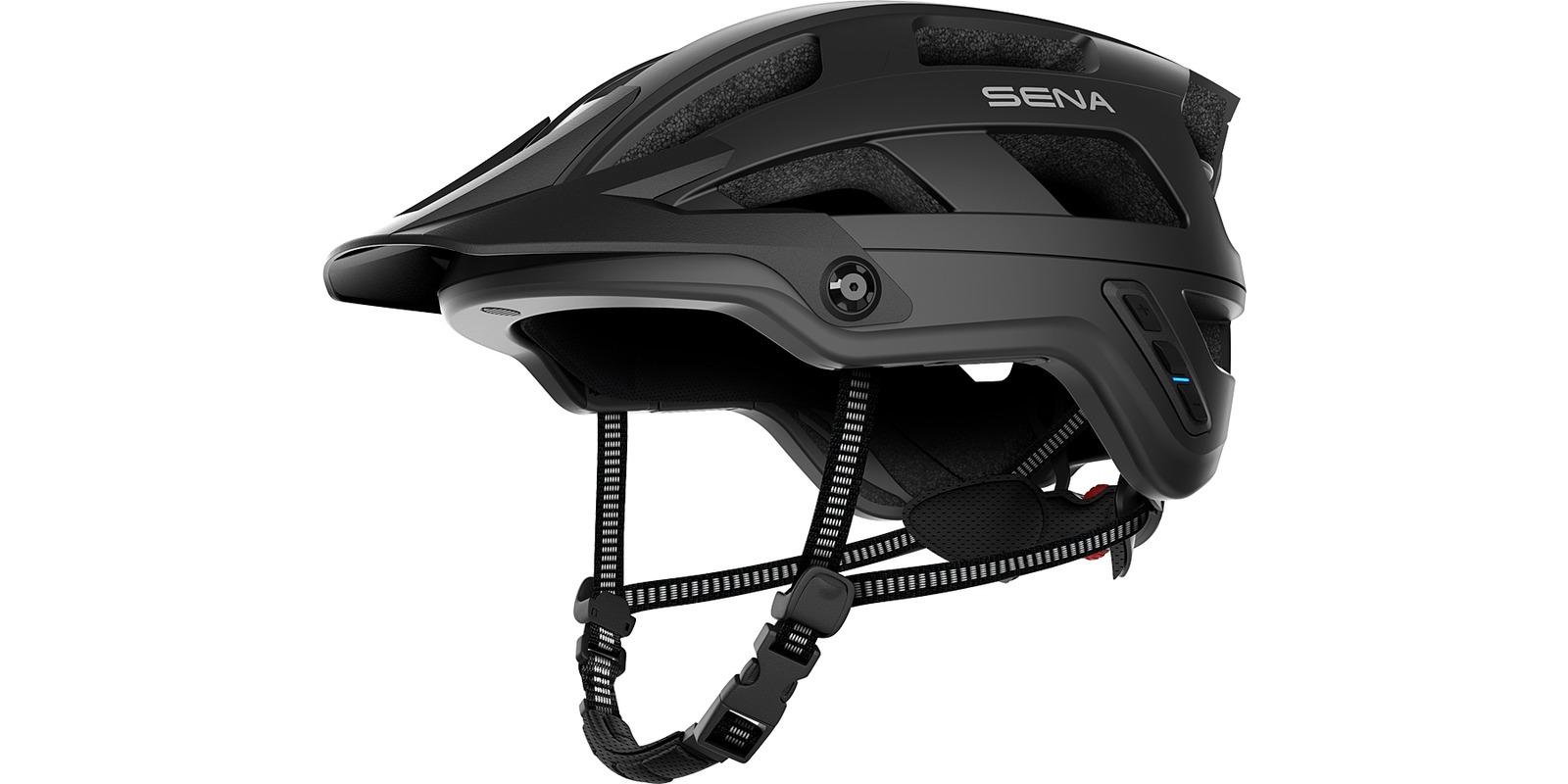 cyklo přilba s headsetem M1, SENA (matná černá, vel. M)