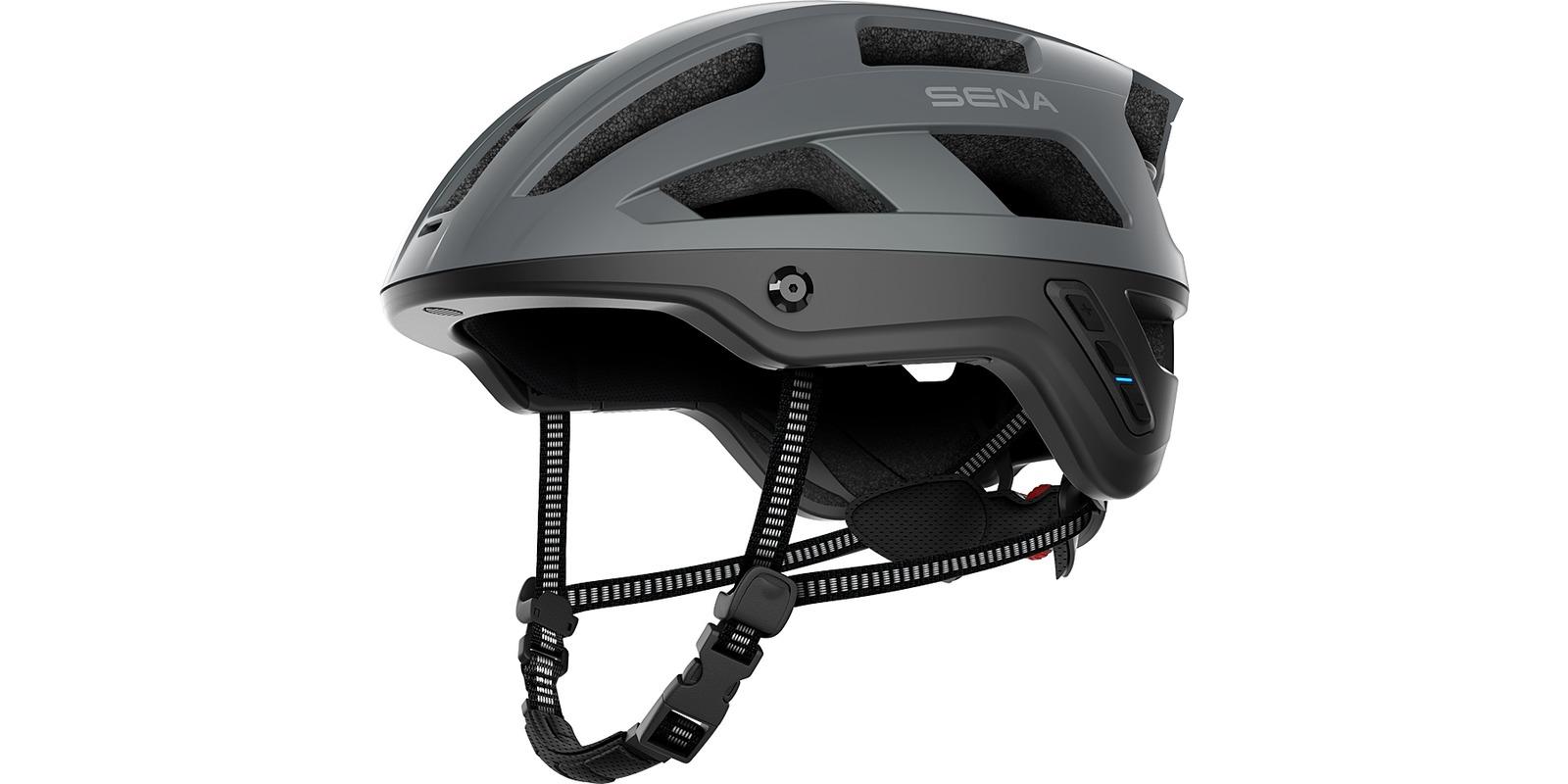 cyklo přilba s headsetem M1, SENA (matná šedá, vel. M)
