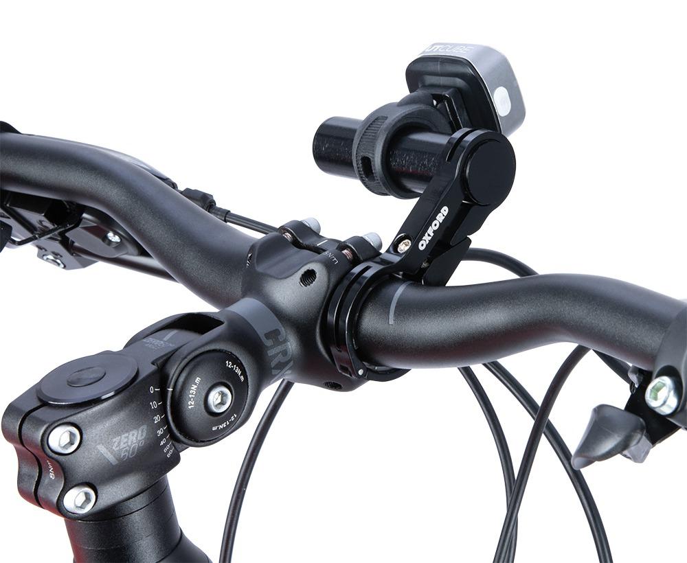univerzální držák na příslušenství a světla s objímkou/gumičkou, OXFORD (osazení na řídítka pomocí objímky)