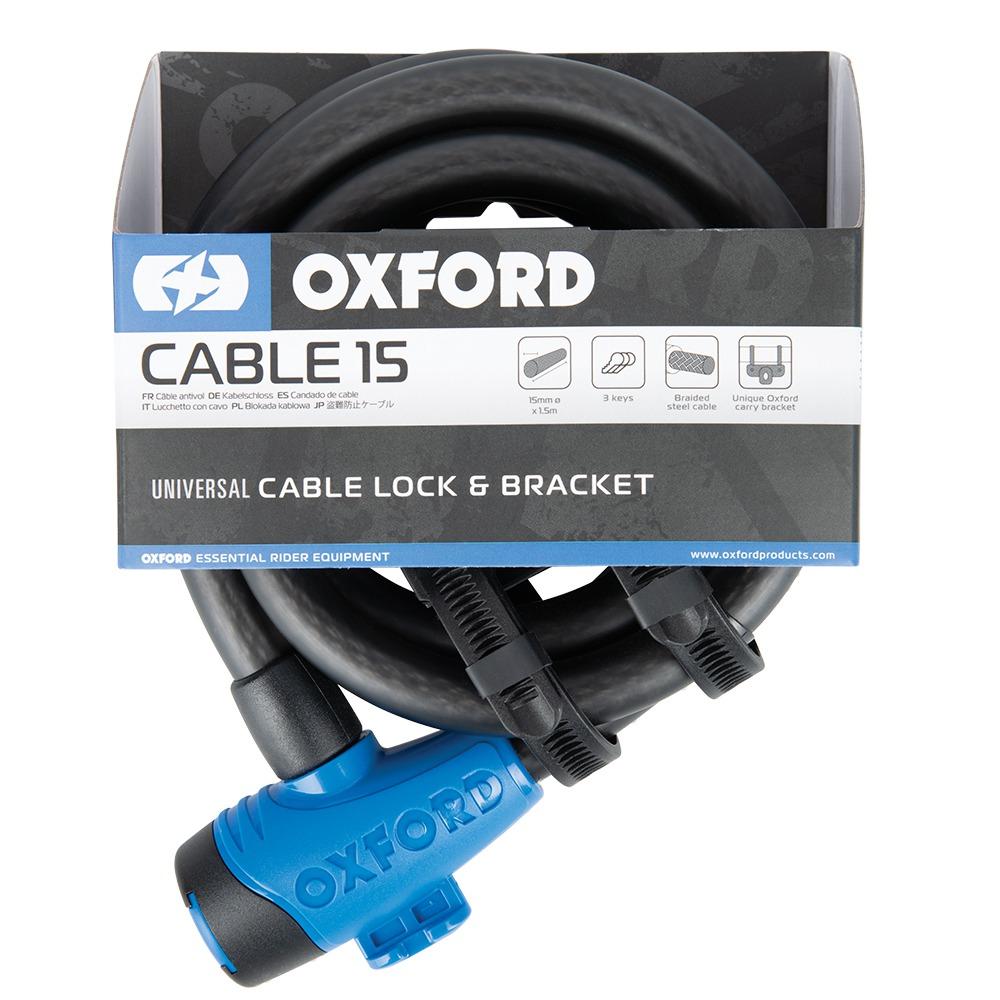 zámek CABLE15, OXFORD (kouřový, průměr lanka 15 mm, délka 1,5 m)