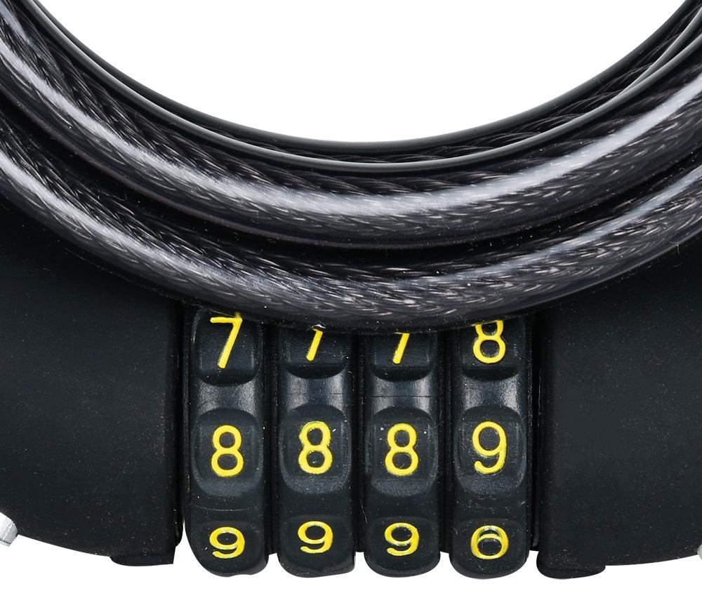 zámek lankový COMBI8, OXFORD (kouřový, průměr lanka 8 mm, délka 1,8 m)