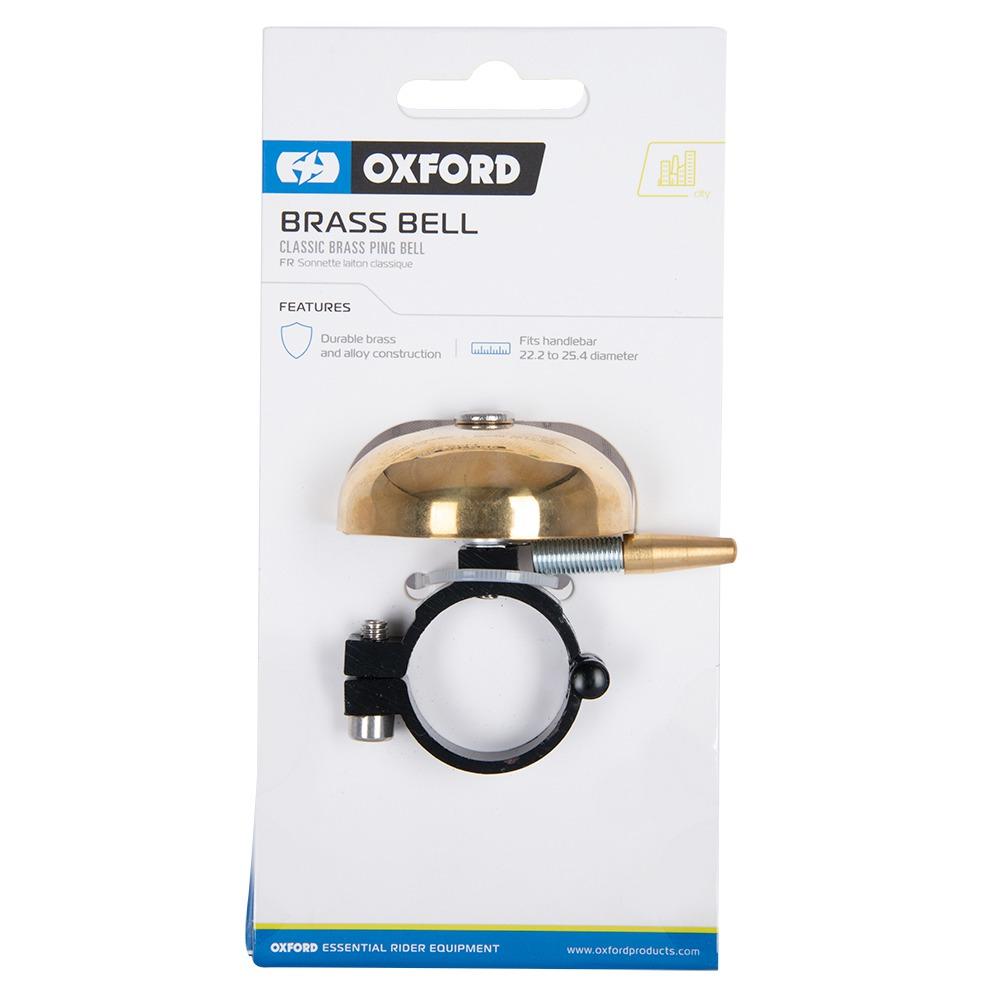 zvonek na kolo CLASSIC PING BRASS BELL, OXFORD (zlatý plášť)