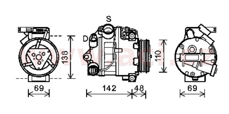 kompresor klimatizace 3.0d