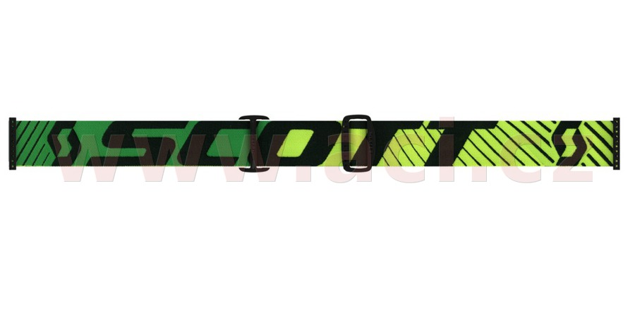 a Motokrosové brýle SCOTT RECOIL XI WORKS (zelené/žluté, zlaté chrom plexi s čepy pro slídy)