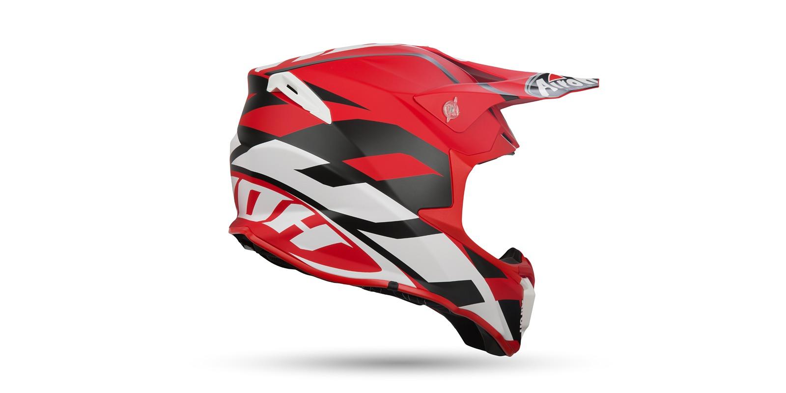 A Motokrosová přilba AIROH TWIST GREAT (červená/černá/bílá) vel. M