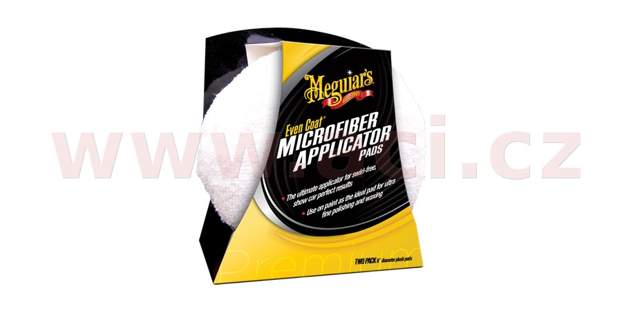 MEGUIARS Even Coat Microfiber Applicator Pads - mikrovláknové aplikátory (2 ks)