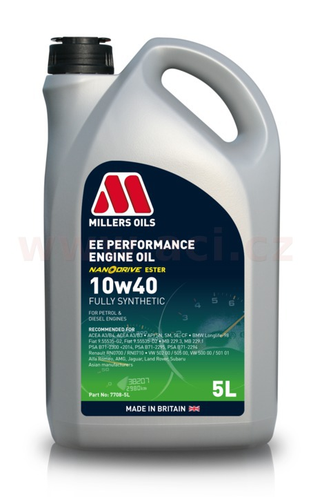 MILLERS OILS EE Semi Synthetic 10W40 (Nanodrive) 5 l