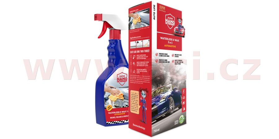 GNP Waterless & Wax 3v1 Automotive sada