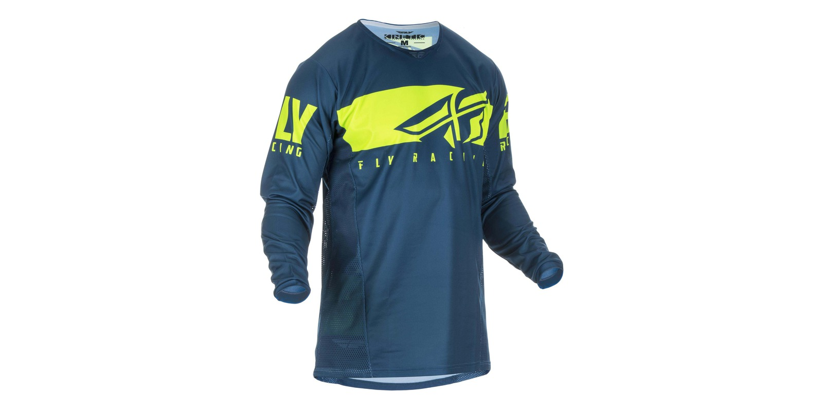 dres Kinetic SHIELD 2019, FLY RACING - USA (modrá/hi-vis, vel. 2XL)